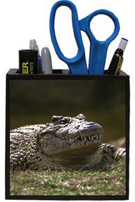 Alligator Wooden Pencil Holder