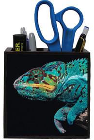 Chameleon Wooden Pencil Holder
