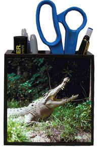 Crocodile Wooden Pencil Holder