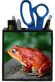 Tomato Frog Wooden Pencil Holder