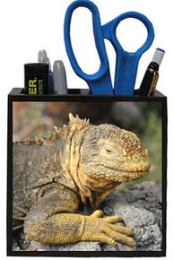 Iguana Wooden Pencil Holder