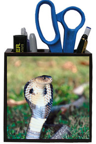 Cobra Snake Wooden Pencil Holder