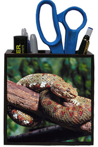 Viper Snake Wooden Pencil Holder