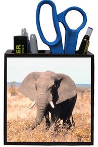 Elephant Wooden Pencil Holder