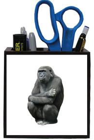 Gorilla Wooden Pencil Holder