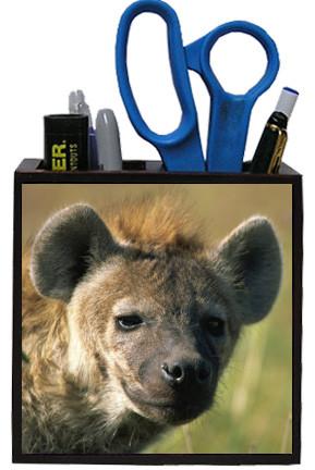 Hyena Wooden Pencil Holder