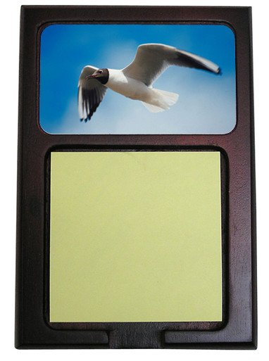 Black Headed Gull Wooden Sticky Note Holder