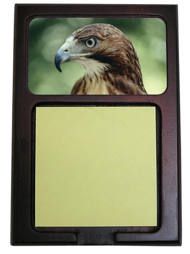 Hawk Wooden Sticky Note Holder
