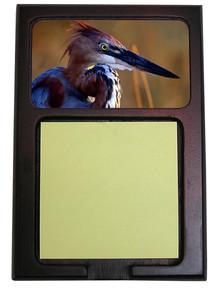 Goliath Heron Wooden Sticky Note Holder
