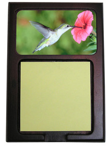 Hummingbird Wooden Sticky Note Holder