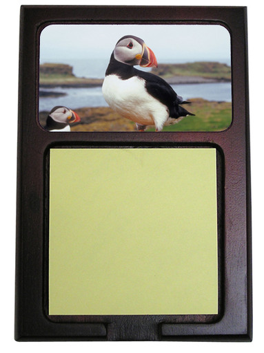 Atlantic Puffin Wooden Sticky Note Holder