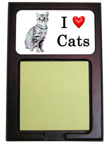 American Shorthair Cat Wood Sticky Note Holder
