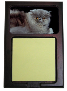 Persian Cat Wood Sticky Note Holder