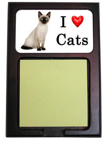 Siamese Cat Wood Sticky Note Holder