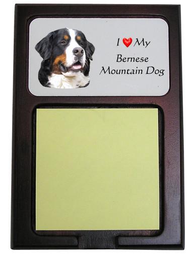 Bernese Mountain Dog Wooden Sticky Note Holder
