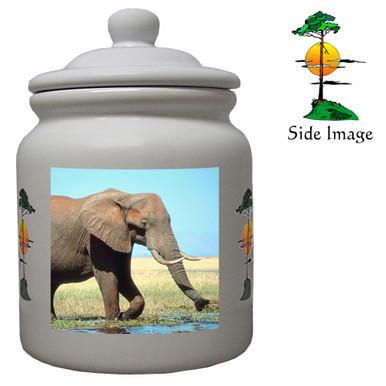 Elephant Ceramic Color Cookie Jar