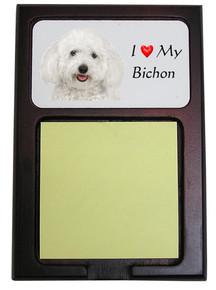 Bichon Wooden Sticky Note Holder