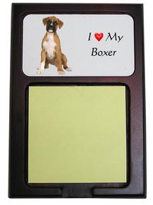 Boxer Wooden Sticky Note Holder