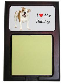 Bulldog Wooden Sticky Note Holder