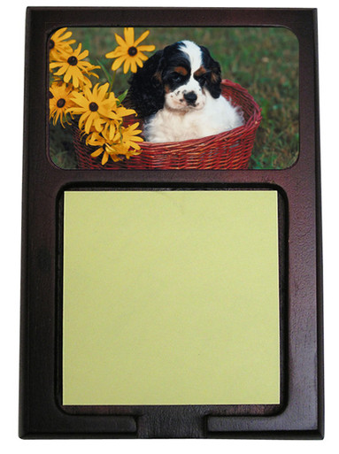 Cavalier King Charles Wooden Sticky Note Holder
