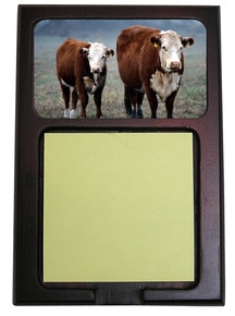 Cow Wooden Sticky Note Holder