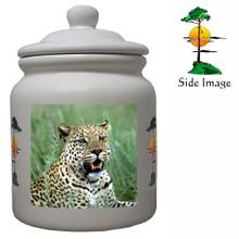 Leopard Ceramic Color Cookie Jar