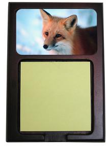 Fox Wooden Sticky Note Holder