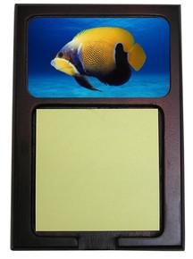 Blue Girdled Angelfish Wooden Sticky Note Holder