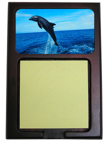 Dolphin Wooden Sticky Note Holder