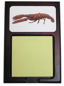 Lobster Wooden Sticky Note Holder