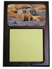 Walrus Wooden Sticky Note Holder