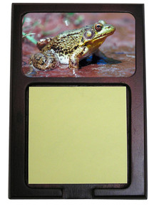 Green Frog Wooden Sticky Note Holder