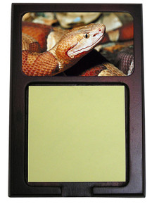 Copperhead Snake Wooden Sticky Note Holder