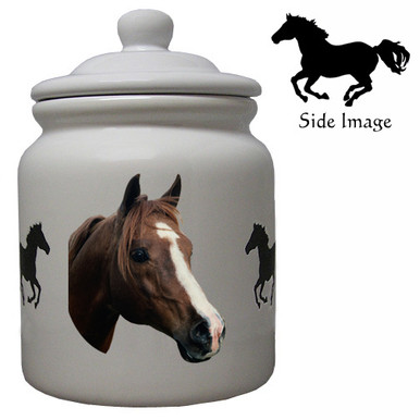 Horse Ceramic Color Cookie Jar