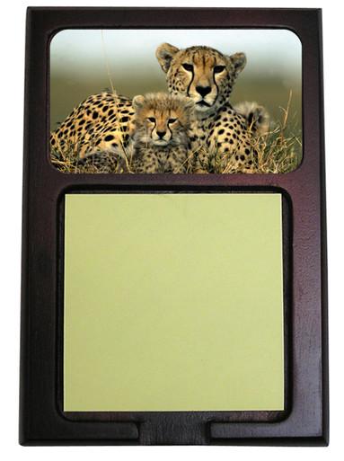 Cheetah Wooden Sticky Note Holder