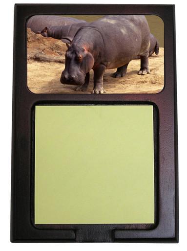 Hippo Wooden Sticky Note Holder
