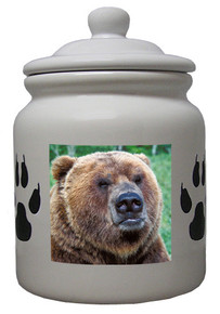 Bear Ceramic Color Cookie Jar