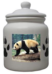 Panda Bear Ceramic Color Cookie Jar