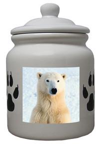 Polar Bear Ceramic Color Cookie Jar