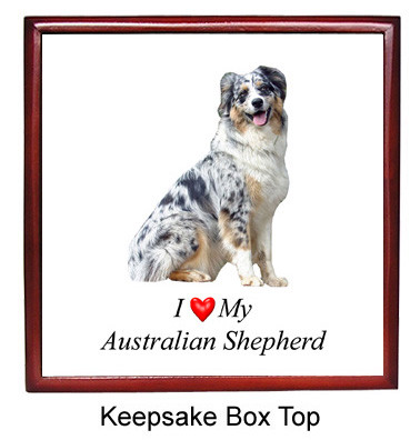 Australian Shepherd Keepsake Box