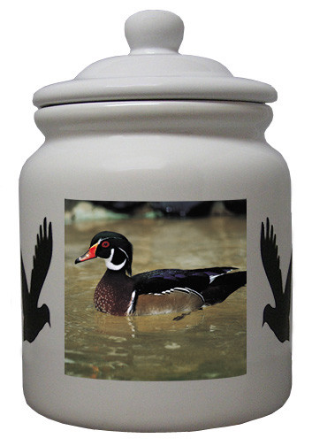 Duck Ceramic Color Cookie Jar