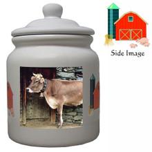 Cow Ceramic Color Cookie Jar