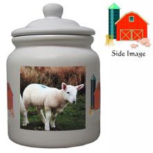 Lamb Ceramic Color Cookie Jar