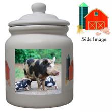 Pig Ceramic Color Cookie Jar
