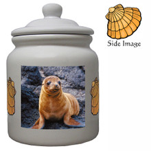 Sea Lion Ceramic Color Cookie Jar