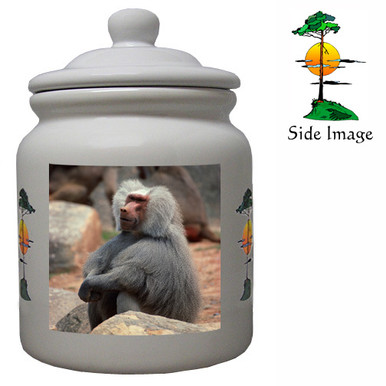 Baboon Ceramic Color Cookie Jar