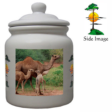 Camel Ceramic Color Cookie Jar