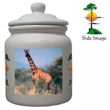 Giraffe Ceramic Color Cookie Jar