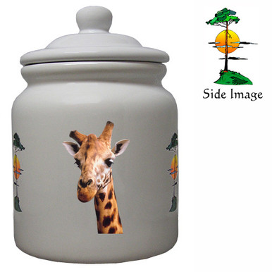Giraffe Ceramic Color Cookie Jar