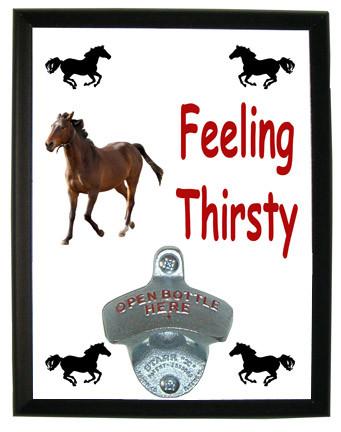 Arabian Feeling Thirsty Bottle Opener Plaque
